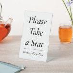 """[ Thumbnail: """"Please Take a Seat"""" + Customized Name ]"""