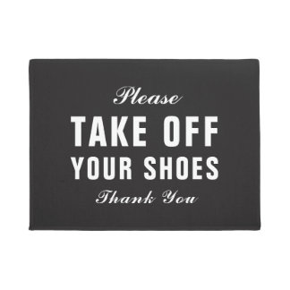 Please Take Off Your Shoes Doormat