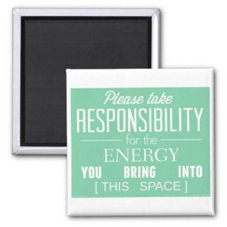 Please Take Responsibility for the Energy Fridge Magnet