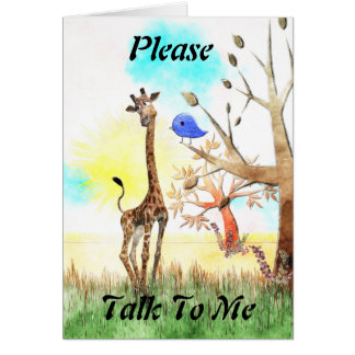 Please Talk To Me - Olympia and Blue Bird Card