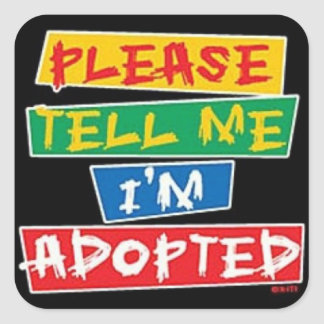 Please tell me im adopted stickers