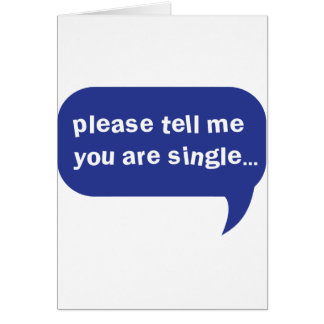 please tell me you are single card