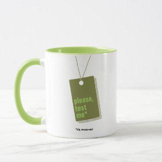 Please, test me* - text personnalisable mug