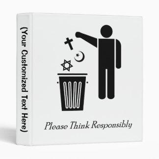 Please Think Responsibly Binders