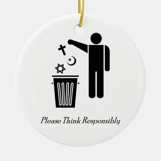 Please Think Responsibly Christmas Ornaments