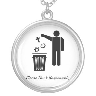 Please Think Responsibly Silver Plated Necklace