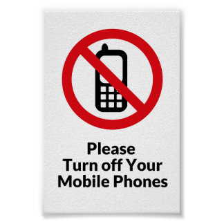 Please turn off cell phones poster
