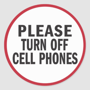please turn off cell phone sign