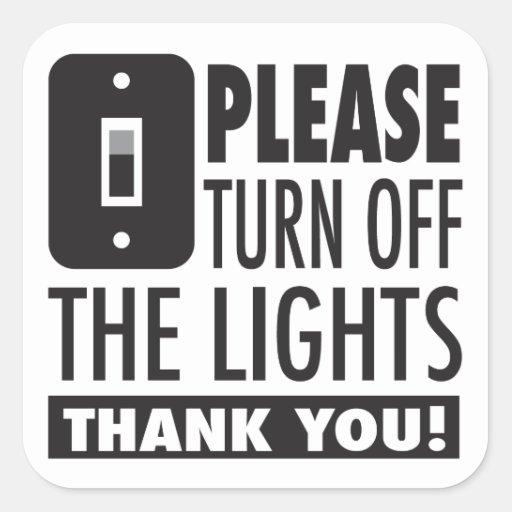 Please turn off the lights sticker