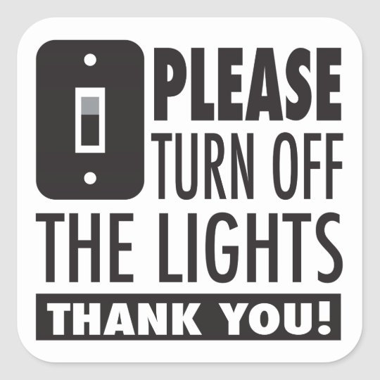 Well known Please turn off the lights sticker | Zazzle.com EU54