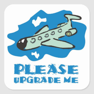 Please upgrade me to business class on the plane square stickers