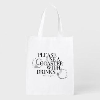 Please Use A Coaster Reusable Grocery Bag