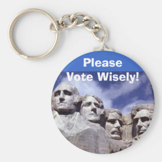 Please Vote Wisely! Keychain
