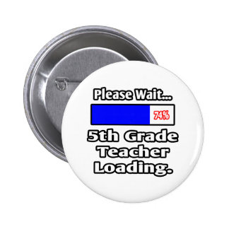 Please Wait...5th Grade Teacher Loading 2 Inch Round Button