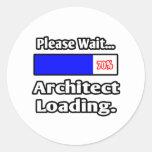 Please Wait...Architect Loading Round Sticker
