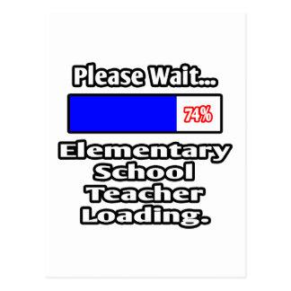 Please Wait...Elementary School Teacher Loading Postcard