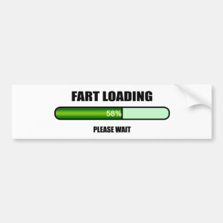 Please Wait Fart Now Loading Bumper Sticker