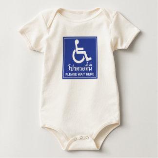 Please Wait Here Sign, Thailand Baby Bodysuit
