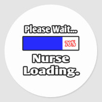 Please Wait...Nurse Loading Classic Round Sticker