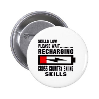 Please wait recharging Cross Country Skiing skills 2 Inch Round Button