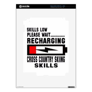 Please wait recharging Cross Country Skiing skills iPad 2 Skins