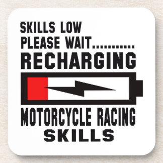 Please wait recharging Motorcycle Racing skills Beverage Coasters