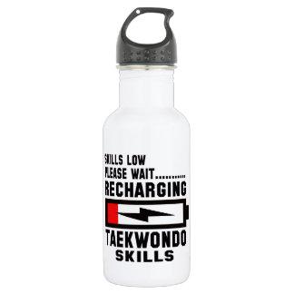 Please wait recharging Taekwondo skills 18oz Water Bottle