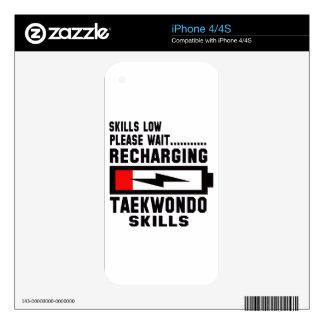 Please wait recharging Taekwondo skills iPhone 4 Decal