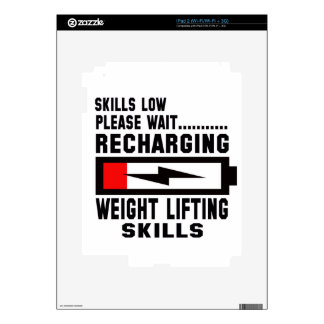 Please wait recharging Weight Lifting skills Skin For The iPad 2