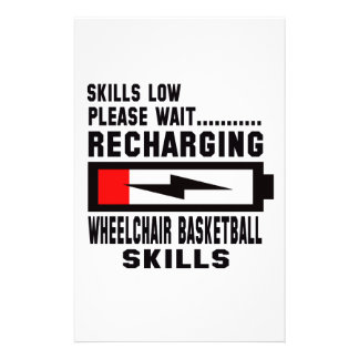 Please wait recharging Wheelchair basketball skill Stationery