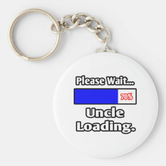 Please Wait...Uncle Loading Basic Round Button Keychain