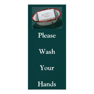 PLEASE WASH HANDS: RACK CARD: ART RACK CARD