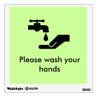 'Please wash your hands' Wall Decal