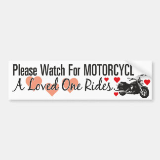 Please Watch For Motorcycles - Cruiser Bumper Sticker