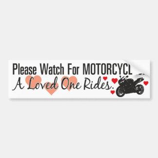 Please Watch For Motorcycles - Sportbike Car Bumper Sticker