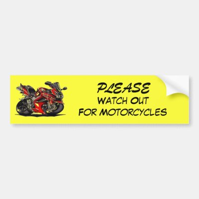 Please watch out for motorcycles bumper sticker zazzle com
