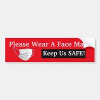 Please Wear A Face Mask Bumper Sticker