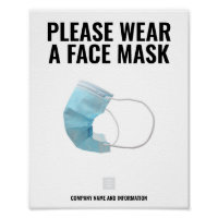 PLEASE WEAR A FACEMASK poster