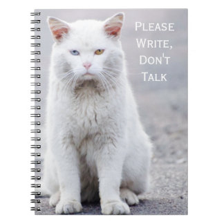 """Please Write, Don't Talk"" Crabby Cats Notebook"