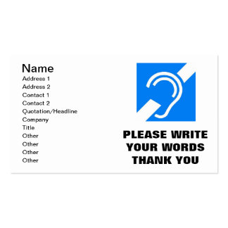 PLEASE WRITE YOUR WORDS THANK YOU BUSINESS CARD