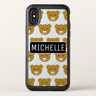 Pleased Bear Personalized Speck iPhone X Case