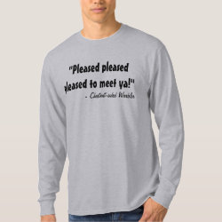 Men's Basic Long Sleeve T-Shirt with Chestnut-sided Warbler design