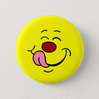 Pleased Smiley Face Grumpey Button