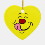Pleased Smiley Face Grumpey Christmas Ornaments