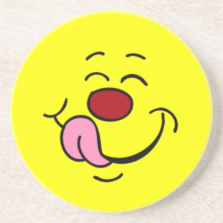 Pleased Smiley Face Grumpey Drink Coasters