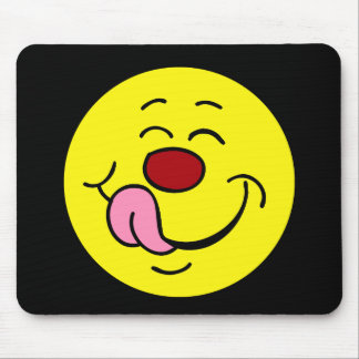 Pleased Smiley Face Grumpey Mouse Pad