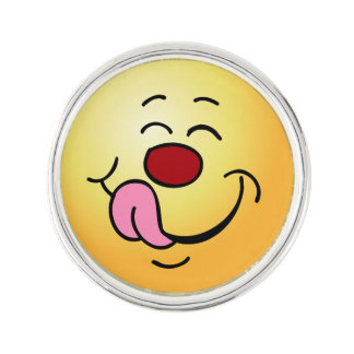 Pleased Smiley Face Grumpey Pin