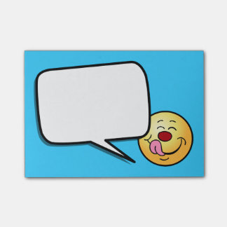 Pleased Smiley Face Grumpey Post-It Notes