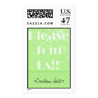 PleaseJoinUsGreen, <Custom Date> Postage