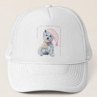 Pleasing Dreams Westie - in Pink Trucker Hat
